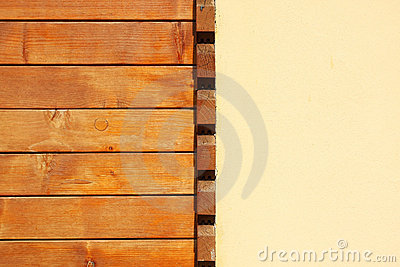 Wood And Plaster Wall Royalty Free Stock Images - Image: 19967149
