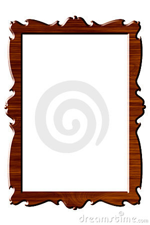 Wood portrait rectangular frame