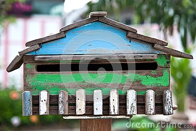 Wood postbox