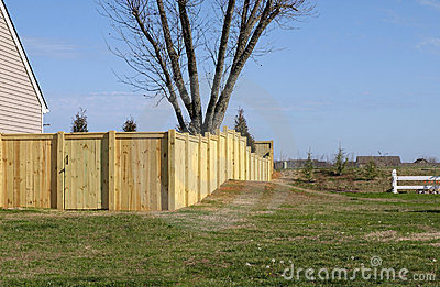 Wood Property Fence