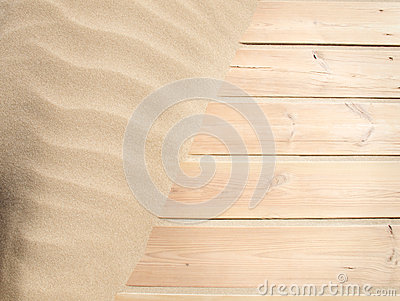 Wood and sand