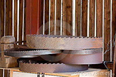 Wood Saw Circular Blades Rusty Pile
