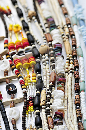 Wood and seashell bead necklaces