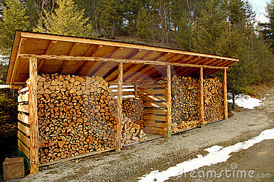 Wood Shed Outdoors Royalty Free Stock Images Image 761229