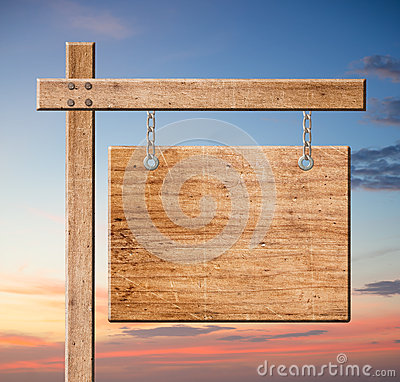 Free Wood Sign. Royalty Free Stock Photography - 29008627