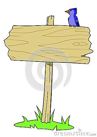 Wood Sign Bird