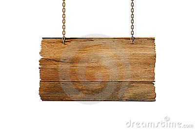 Wood sign hang