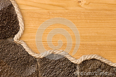 Wood and stone textured