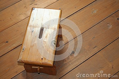 Wood Stool on Wood Background