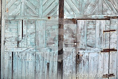 Wood structure door