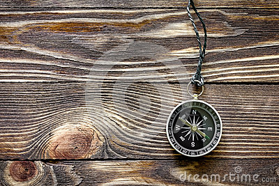 Wood texture with compass