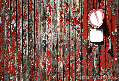 Wood texture w. weathered planks, free copy space