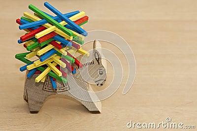 Wood toys to enhance kids skills