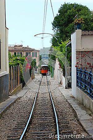 Wood train of Puerto de Soller in Mallorca