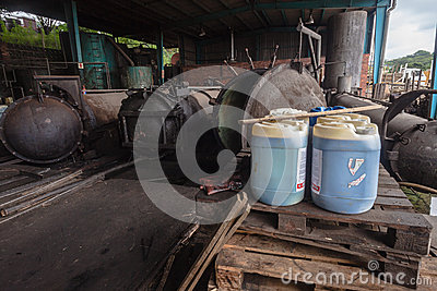 Wood Treatment Tanks Editorial Photography