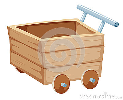 Wood trolley