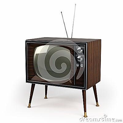 Wood Veneer Vintage TV