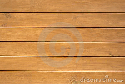 Wood wall of horizontal brown planks