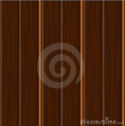 Wood wall panel texture with gold
