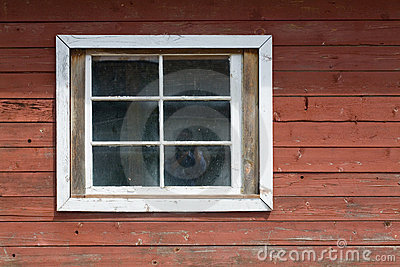 Wood wall and window