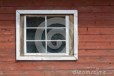 Wood wall and window