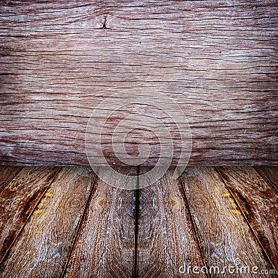 Wood walls and floor