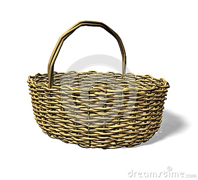 Wood weave basket