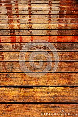 wood wet floor rain