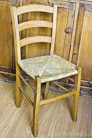 Wood And Wicker Chair Stock Photography Image 14203882