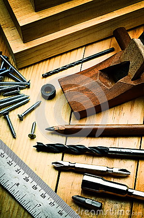 Free Wood Working Concept Stock Photography - 46715172