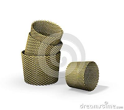 Wood woven baskets