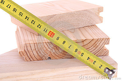 Wood with yellow measuring tap