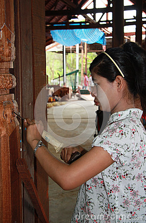 Woodcarving Editorial Stock Photo
