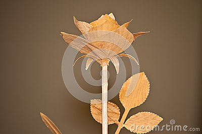 Woodcarving rose