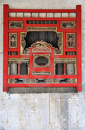 Woodcarving window in Chinese traditional style