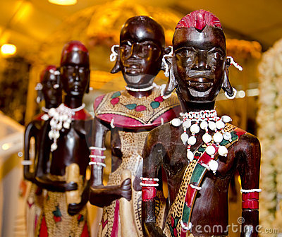 Wooden african statue