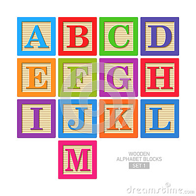 Free Wooden Alphabet Blocks Royalty Free Stock Images - 33332019