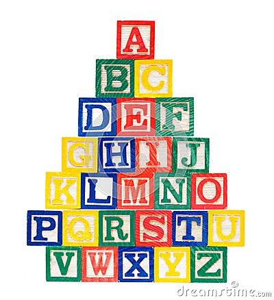 Free Wooden Alphabet Blocks Isolated On White Background Royalty Free Stock Photo - 15694355