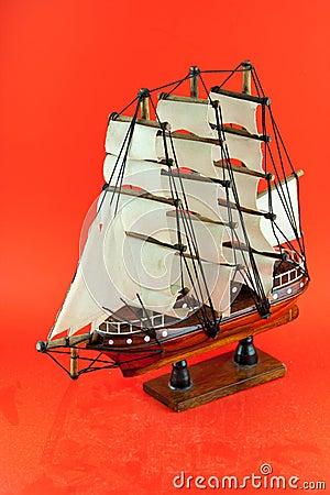 Wooden argosy model