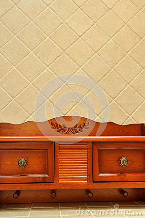 Wooden ark in room interior