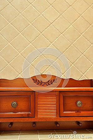 Wooden ark in room interior