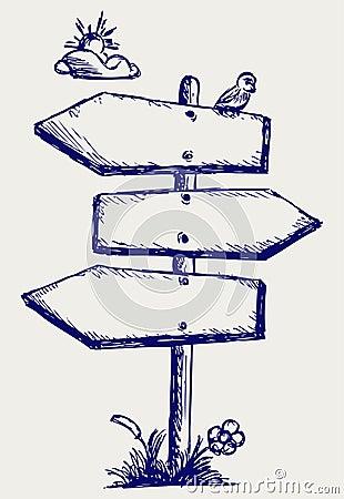 Wooden arrow board
