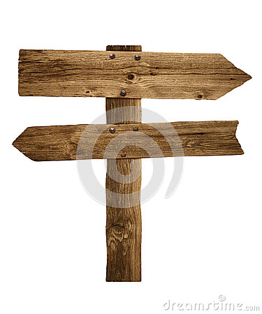 Free Wooden Arrow Sign Post Or Road Signpost Royalty Free Stock Photo - 40091205