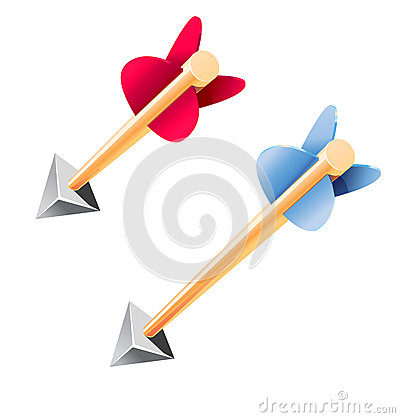 Wooden arrows vector illustration