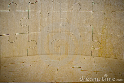 A wooden background is collected from puzzle