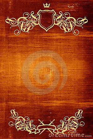 Wooden background with flourish detail