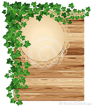 Free Wooden Background With Ivy Royalty Free Stock Photo - 24504755