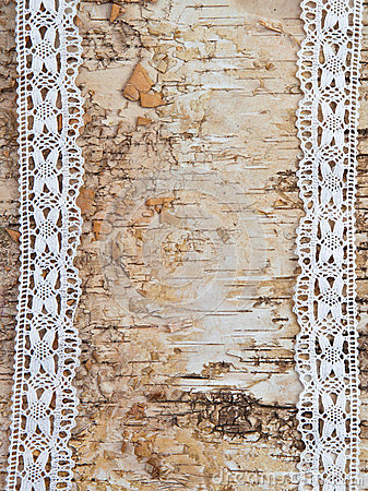 Free Wooden Background With White Lace Royalty Free Stock Photography - 31804427