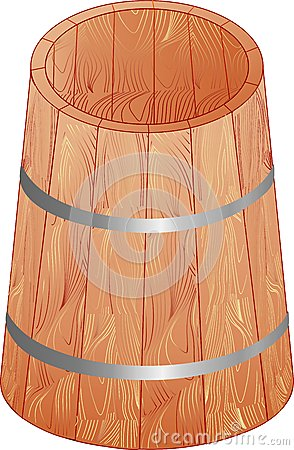 The wooden barrel