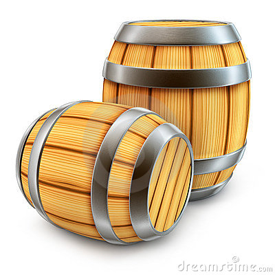 Wooden barrel for wine and beer storage